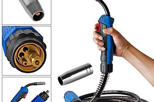 Wilktop Schweißbrenner MB15 Schlauchpaket Schutzgas CO2 Welding Torch Gun Hals für MIG/MAG Schweißgerät (3m)