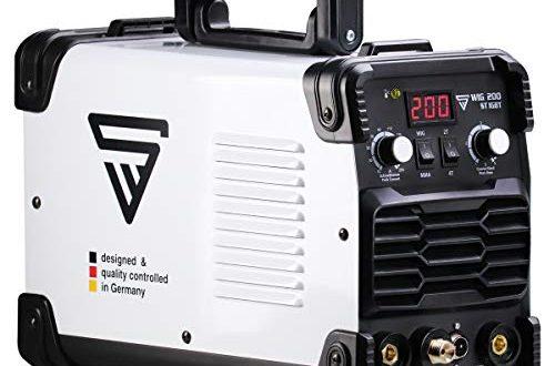 STAHLWERK DC WIG 200 ST IGBT - Kombi WIG Schweißgerät mit 200 Ampere und MMA E-Hand, 7 Jahre Herstellergarantie, Schweißen von Stahl, Edelstahl uvm. (kein ALU-Schweißen)